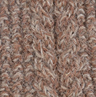Alpaca Cable Fingerless Gloves in Mixt. Amber Mlge-Taupe | Classic Alpaca Peru