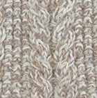 Alpaca Cable Fingerless Gloves in Mixt. Camel-Beige-Lt. Grey | Classic Alpaca Peru