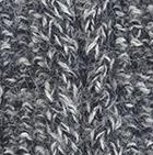 Alpaca Cable Fingerless Gloves in Mixt. Black-Lt. Grey | Classic Alpaca Peru