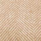 Woven & Brushed Herringbone Baby Alpaca Throw in Hazelnut-Natural | Classic Alpaca Peru