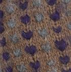 Alpaca Thrummed Mittens in Cinnamong Mle.-Purple-Charcoal   Classic Alpaca Peru