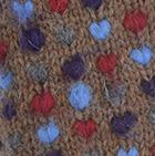 Alpaca Thrummed Mittens in Cinnamon Mlge-Multicolor | Classic Alpaca Peru
