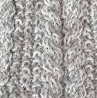 Mixt.Natural-Lt.Grey. Alpaca Cable Fingerless Gloves