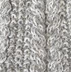 Alpaca Cable Fingerless Gloves in Mixt.Natural-Lt.Grey. | Classic Alpaca Peru