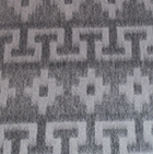 Grey Alpaca Ethnic Inka Blanket