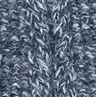 Alpaca Cable Fingerless Gloves in Mixt.Denim-Natural | Classic Alpaca Peru