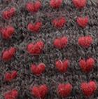 Alpaca Thrummed Mittens in Charcoal-Red | Classic Alpaca Peru