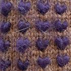Alpaca Thrummed Mittens in Amber Mlg.-Purple | Classic Alpaca Peru