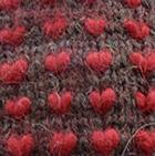 Brown-Red Alpaca Thrummed Mittens