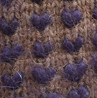 Alpaca Thrummed Mittens in Cinnamon Mlg.-Purple | Classic Alpaca Peru