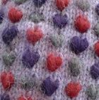 Alpaca Thrummed Mittens in Lilac Mlge.-Multicolor   Classic Alpaca Peru