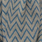 Sand Melange-Sapphire Melange Chevron Baby Alpaca Infinity Scarf