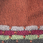 Dk. Rust-Multicolor Justin Striped Alpaca Hat