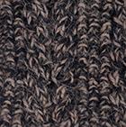 Alpaca Cable Fingerless Gloves in Mixt.Taupe-Black | Classic Alpaca Peru