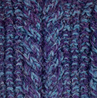 Mixt.Purple-Sapphire Mlge Alpaca Cable Fingerless Gloves