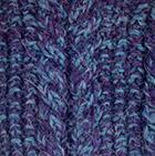 Alpaca Cable Fingerless Gloves in Mixt.Purple-Sapphire Mlge | Classic Alpaca Peru