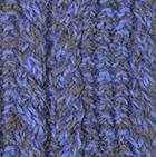 Alpaca Cable Fingerless Gloves in Mixt.Taupe-Periwinkle | Classic Alpaca Peru