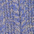 Alpaca Cable Fingerless Gloves in Mixt. Periwinkle-Beige | Classic Alpaca Peru