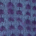 Alpaca Thrummed Mittens in Steel-Purple   Classic Alpaca Peru