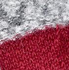 Charcoal-Burgundy Shipibo Alpaca Boucle Gloves