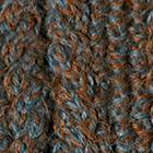 Alpaca Cable Fingerless Gloves in Sapphire Mlge.-Vicuna | Classic Alpaca Peru