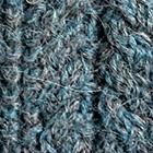 Alpaca Cable Fingerless Gloves in Mixt. Sapphire Mlge.-Grey Mlge. | Classic Alpaca Peru