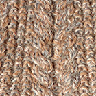 Alpaca Cable Fingerless Gloves in Mixt. Beige-Grey Mlge.-Camel | Classic Alpaca Peru