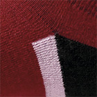 Burgundy-Black Sport Golf Socks