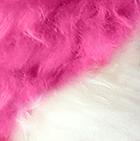 Fuchsia-Natural ALPACA Fur - Cotton Kandi Ornament 17 inches