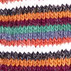 Multicolor 3 Multi - Striped Alpaca Fingerless Gloves