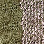 Sand Mlge.-Dk. Green Waves Baby Alpaca Infinity Scarf