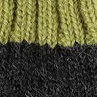Charcoal-Green Tassel Baby Alpaca Hat