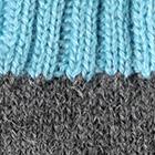 Grey Mlge.-Turquoise Tassel Baby Alpaca Hat