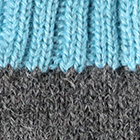 Grey Mlge.-Turquoise Tassel Baby Alpaca Fingerless Gloves