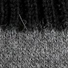 Grey Mlge.-Black Tassel Baby Alpaca Fingerless Gloves