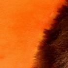 Orange-Various ALPACA Fur - Cotton - Kandi Guinea Pig Ornament 12 inches