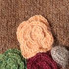 Cinnamong Mlge. Colored Flowers Alpaca Mittens
