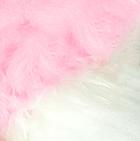 Pink-White PREMIUM Baby Alpaca Fur - Classic Ornament 12 inches