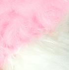 Pink-White PREMIUM Baby Alpaca Fur - Classic Ornament 15 inches