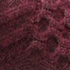 Mulberry Melange. Reverse Alpaca Fingerless Gloves Long