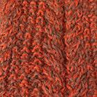 Mixt.-Bright Orange-Cinnamon Alpaca Cable Fingerless Gloves