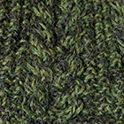 Mixt.-Charcoal-Green Mlge Alpaca Cable Fingerless Gloves
