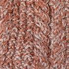 Mixt.AmberMlg.-SandMlg Alpaca Cable Fingerless Gloves