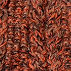 Mixt.-Bright Orange-Cinnamon-Black Alpaca Cable Fingerless Gloves