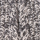 Mixt.-Charcoal-Natural Alpaca Cable Fingerless Gloves