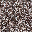Mixt. Brown Mlge.-Natural Alpaca Cable Fingerless Gloves