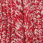 Mixt. Red-Beige Alpaca Cable Fingerless Gloves