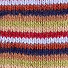 Multicolor 8 Multi - Striped Alpaca Fingerless Gloves