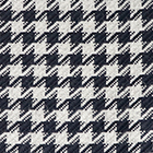 Navy-Lt.Grey Woven & Brushed Houndstooth Baby Alpaca Scarf