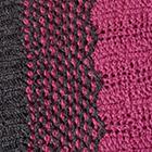 Charcoal-Palo Rosa Waves Baby Alpaca Infinity Scarf